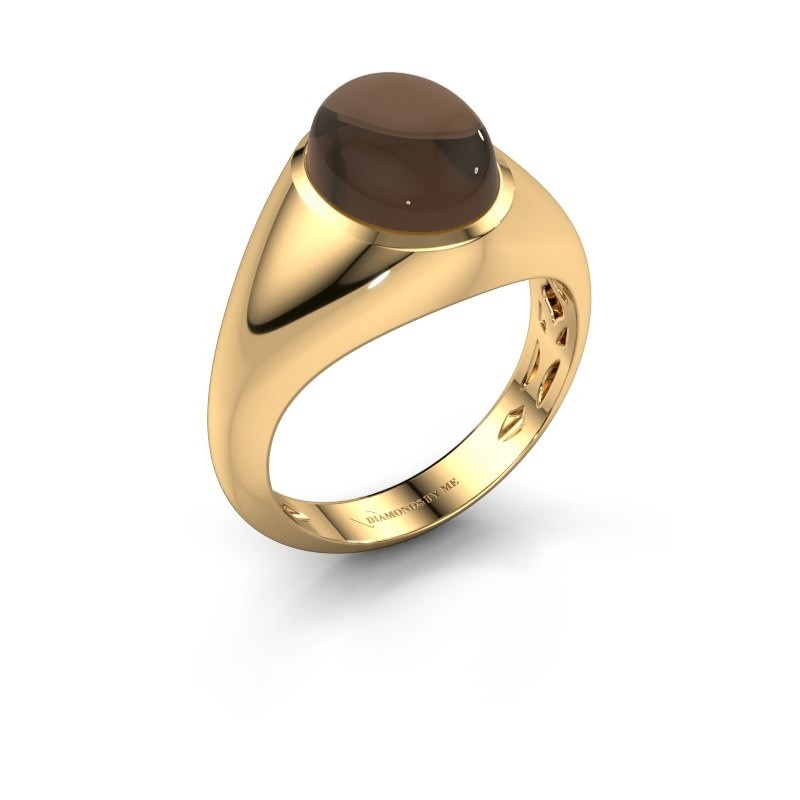 Ring Zaza 375 goud rookkwarts 10x8 mm