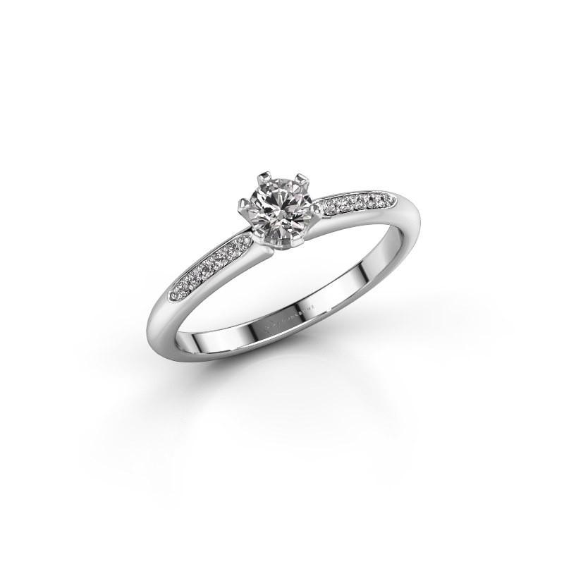Verlovingsring Tiffy 2 950 platina diamant 0.25 crt