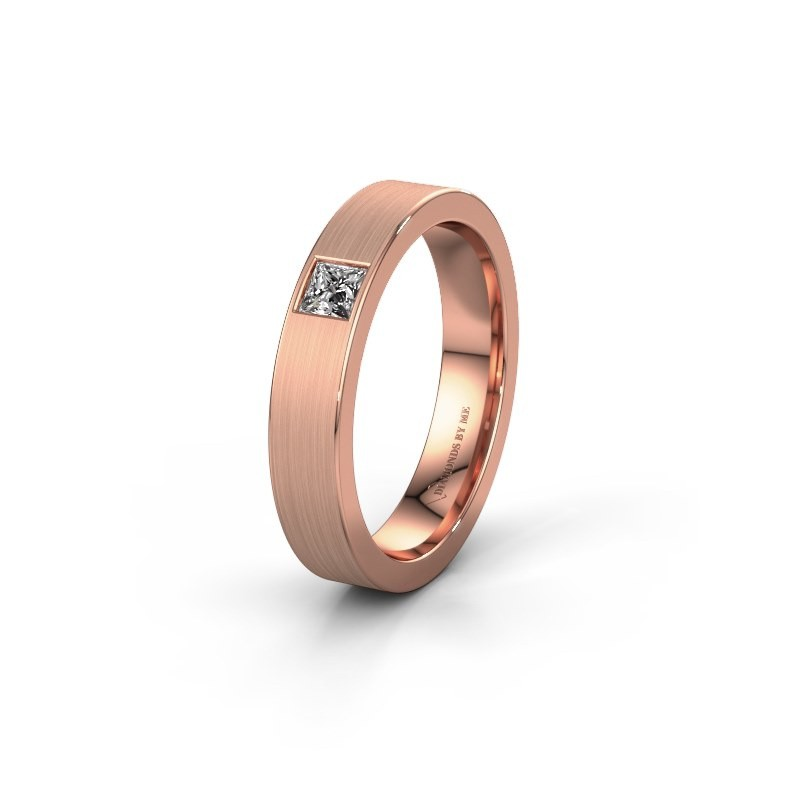 Vriendschapsring WH0101L14BMSQ 375 rosé goud lab-grown diamant ±4x2 mm