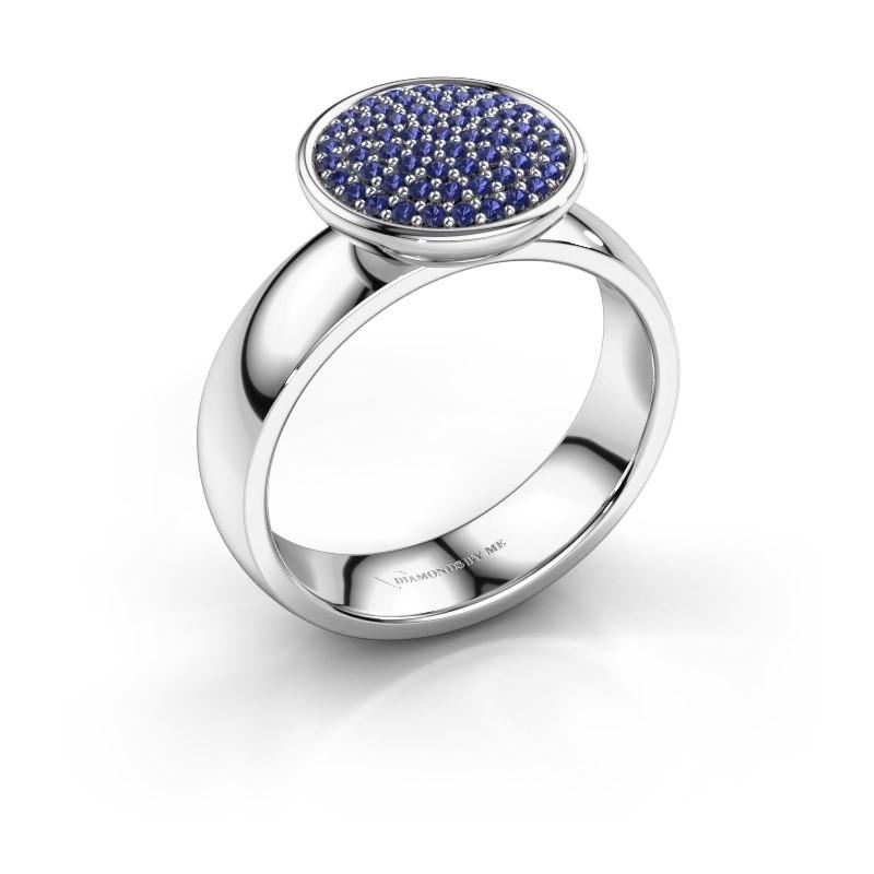 Ring Tilda 950 platina saffier 1 mm