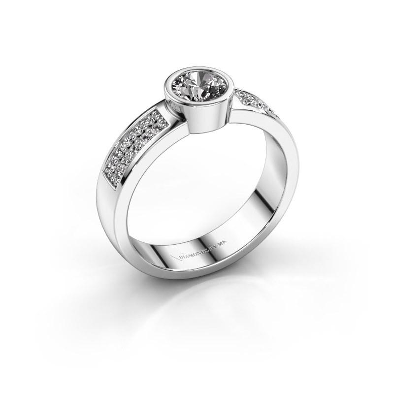 Verlovingsring Ise 3 925 zilver diamant 0.55 crt