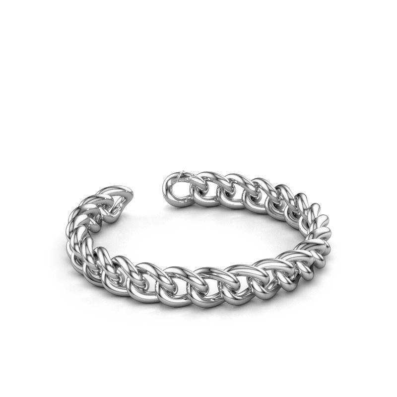 Cuban link armband ±10 mm 950 platina