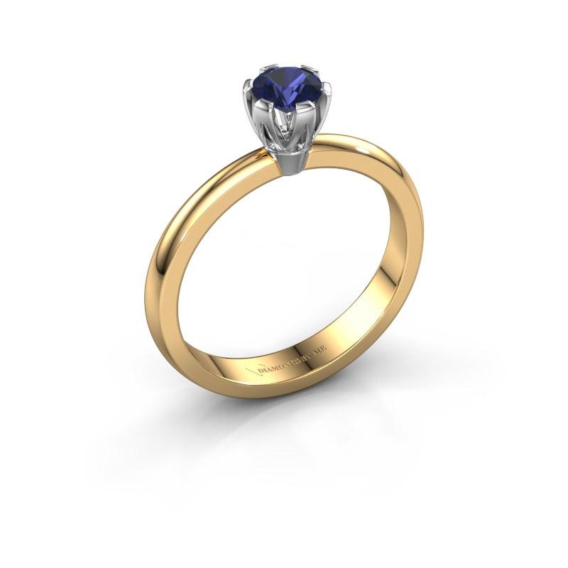 Verlovingsring Julia 585 goud saffier 4 mm