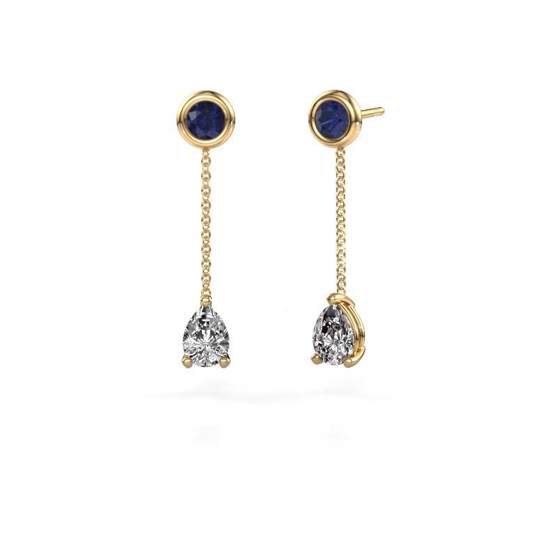 Oorhangers Laurie 3 375 goud lab-grown diamant 0.65 crt