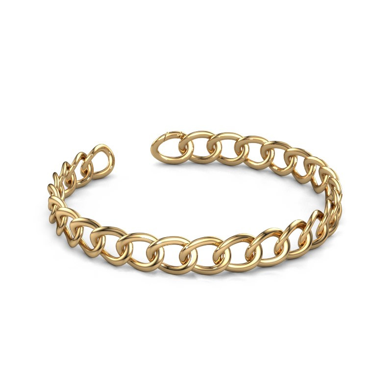 Flacher Link Armband Rose 10 mm 585 Gold