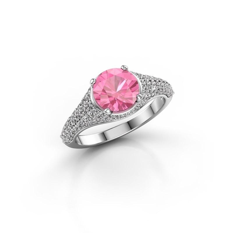 Verlobungsring Lovella 950 Platin Pink Saphir 7 mm