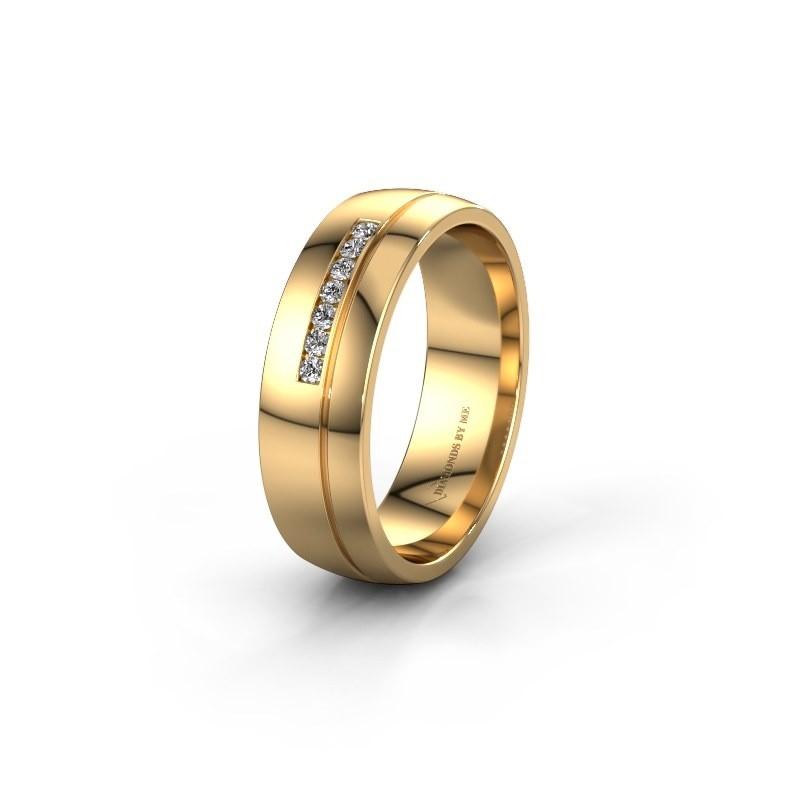 Trouwring WH0308L26AP 585 goud zirkonia ±6x1.7 mm