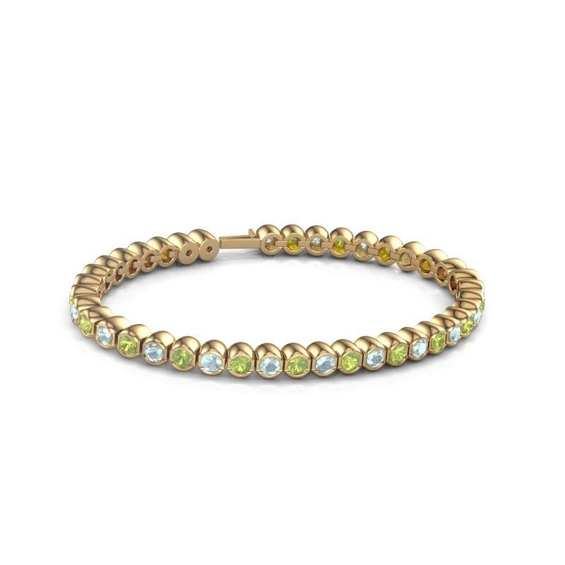 Tennisarmband Mellisa 375 goud peridoot 3.5 mm
