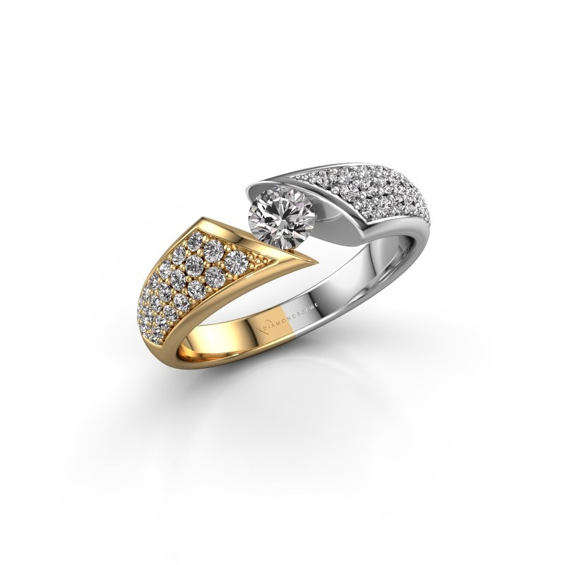 Engagement ring Hojalien 3 585 gold zirconia 4.2 mm