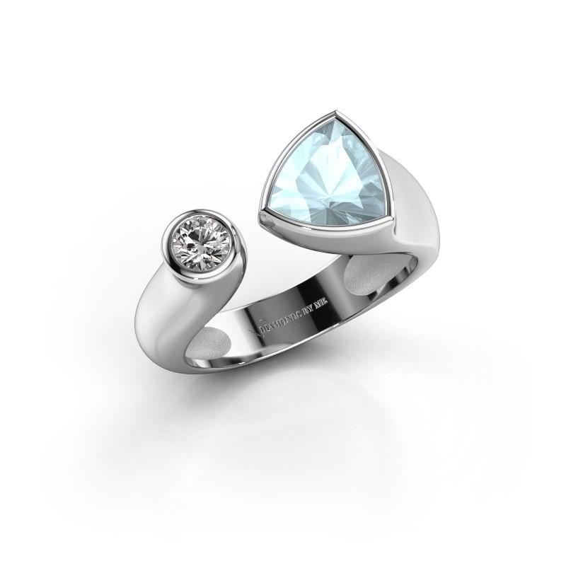 Ring Latisha 950 platina aquamarijn 7 mm