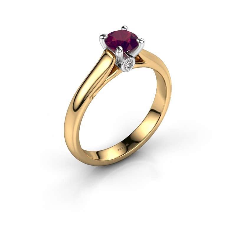 Verlovingsring Valorie 1 585 goud rhodoliet 5 mm