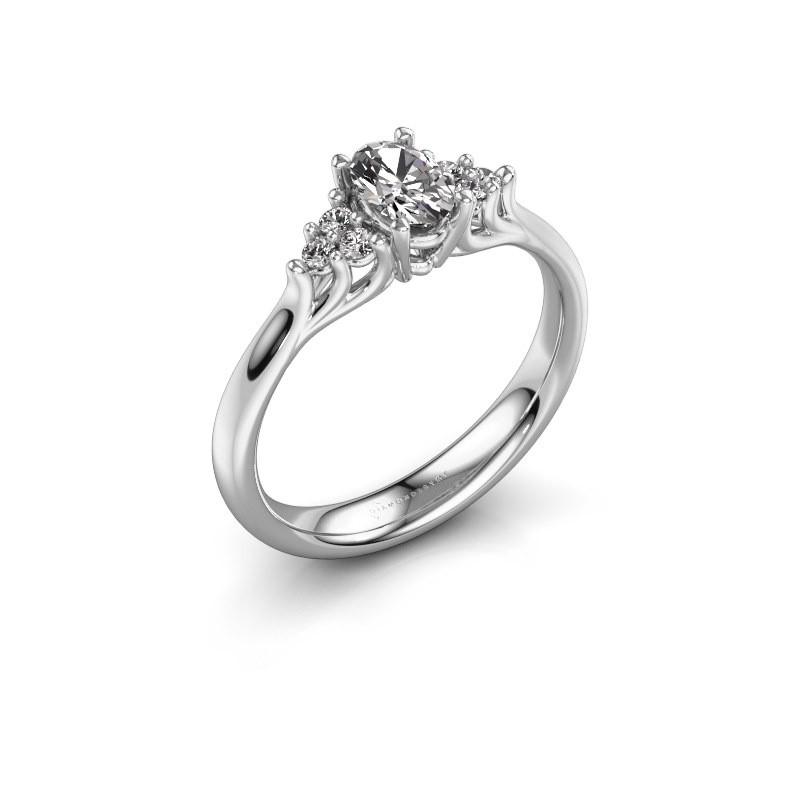 Verlovingsring Monika OVL 925 zilver diamant 0.608 crt