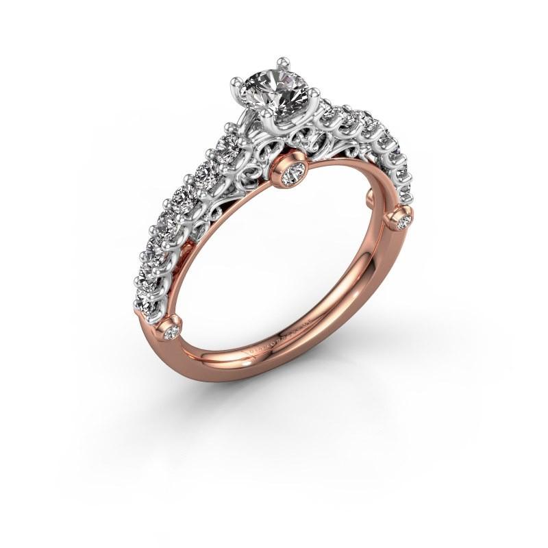 Verlovingsring Shaunda 585 rosé goud diamant 0.80 crt