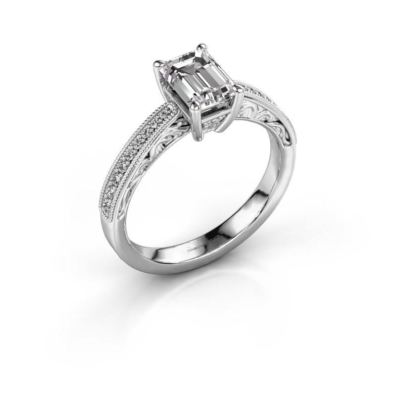 Bague de fiançailles Shonta EME 950 platine diamant synthétique 1.28 crt
