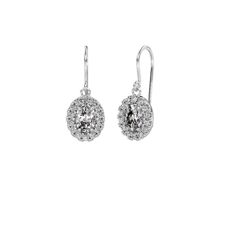 Drop earrings Jorinda 1 375 white gold diamond 2.16 crt