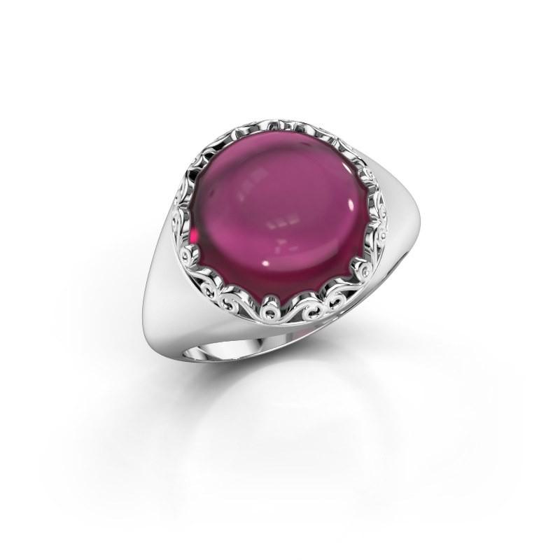 Ring Birgit 925 zilver rhodoliet 12 mm