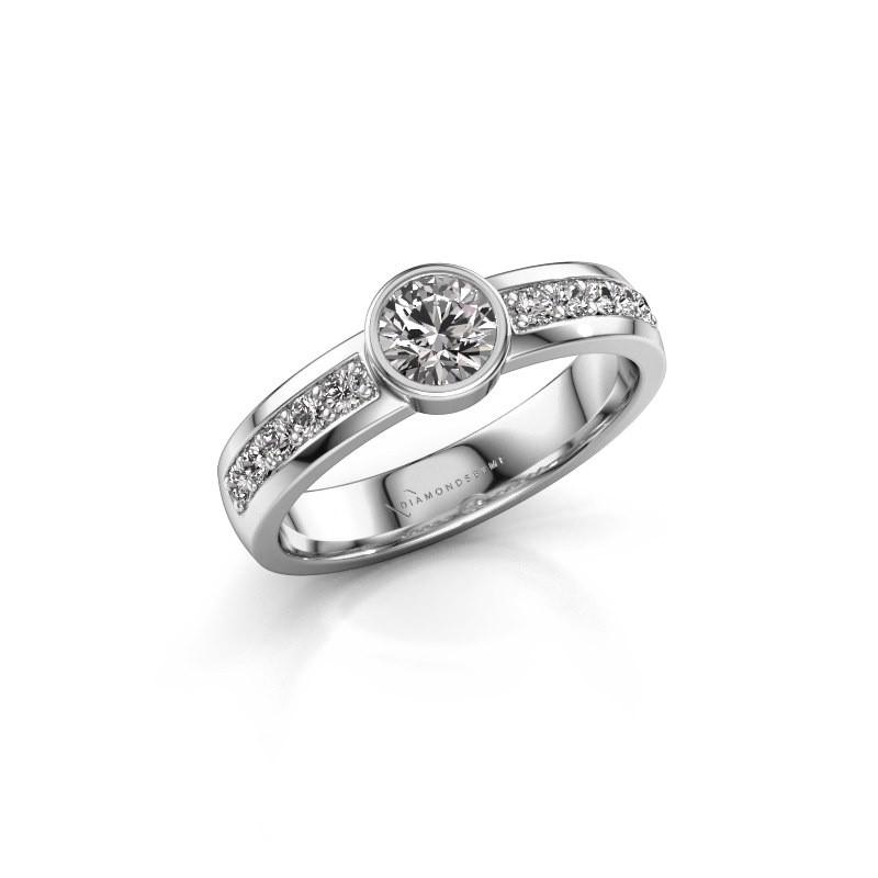Aanzoeksring Ise 2 585 witgoud diamant 0.60 crt
