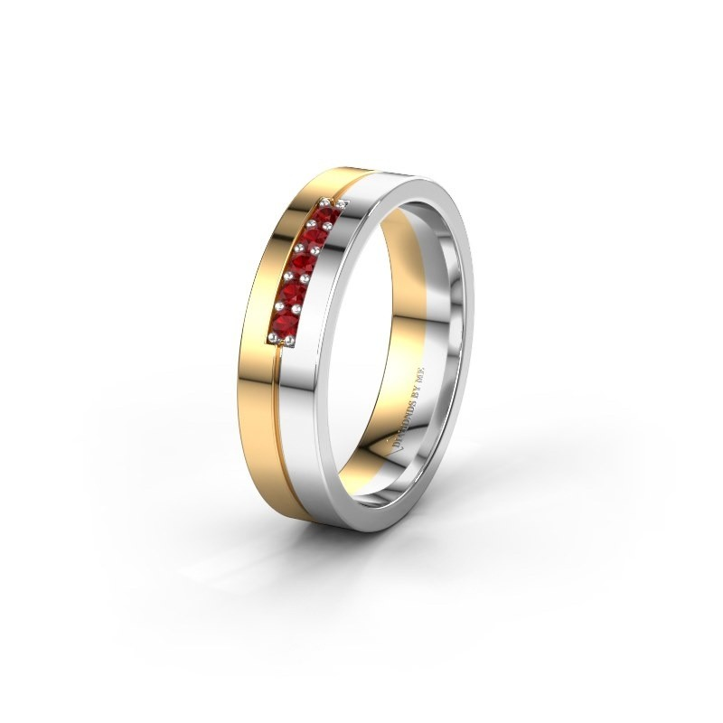 Wedding ring WH0211L15AP 585 gold ruby ±0.20x0.07 in