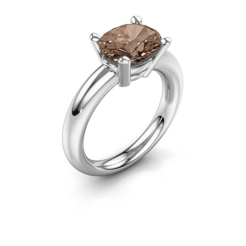 Ring Janiece 925 silver brown diamond 2.70 crt
