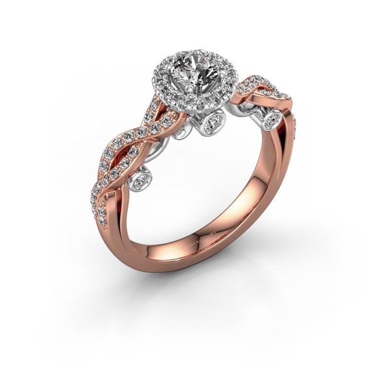 Verlobungsring Madeleine 585 Roségold Diamant 0.758 crt