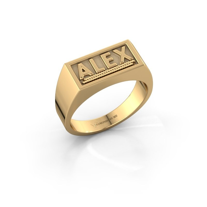 Monogram ring Marcio 585 goud
