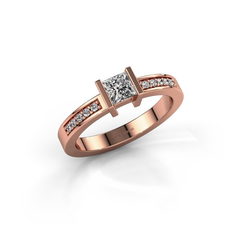 Engagement ring Jordan 375 rose gold diamond 0.40 crt