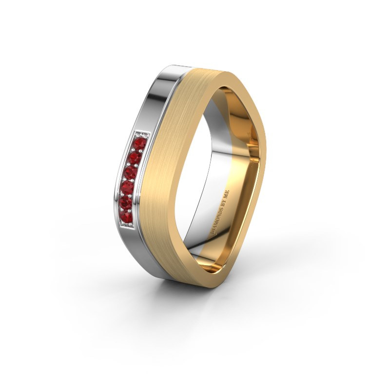 Ehering WH6030L16A 585 Weißgold Rubin ±6x1.7 mm