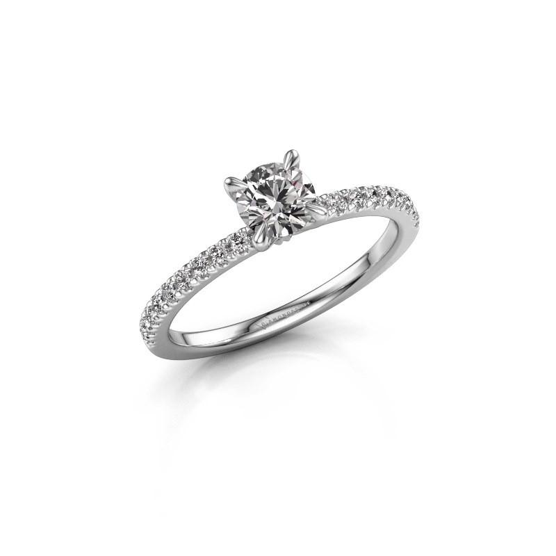 Verlovingsring Crystal rnd 2 950 platina zirkonia 5 mm