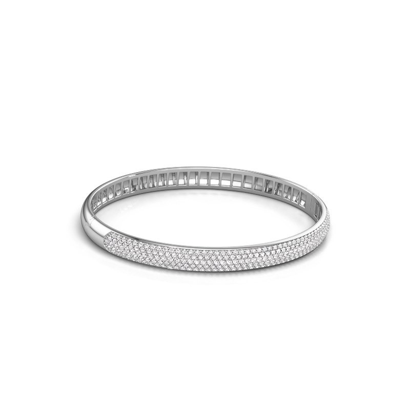 Armband Emely 6mm 585 witgoud zirkonia 1.2 mm