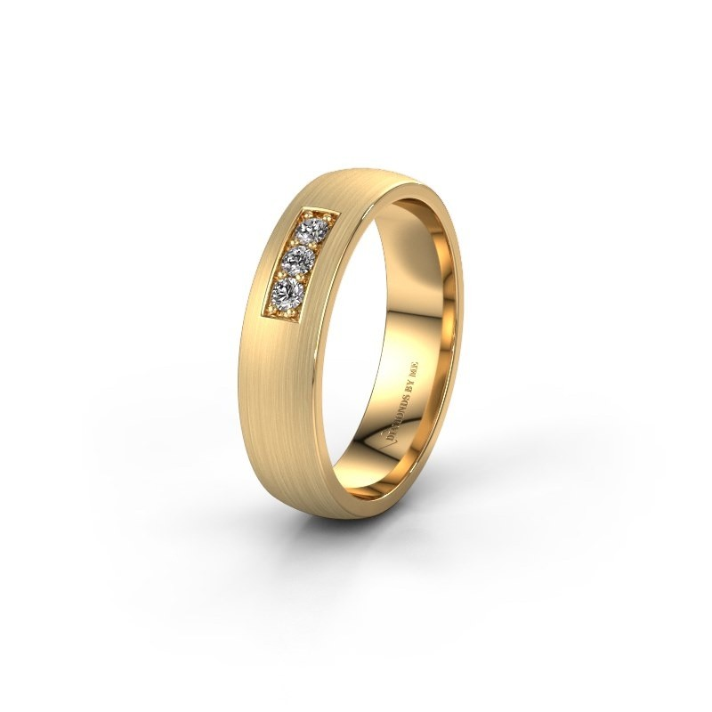 Ehering WH0110L25AM 585 Gold Lab-grown Diamant ±5x1.7 mm