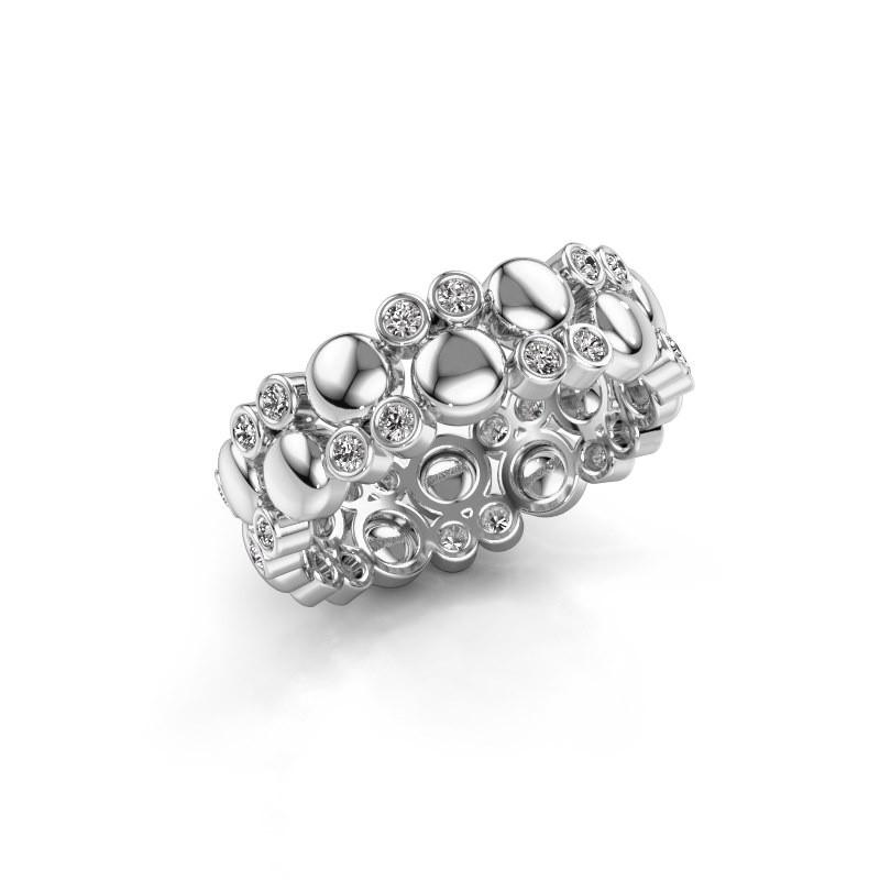 Ring Joanne 375 witgoud lab-grown diamant 0.336 crt