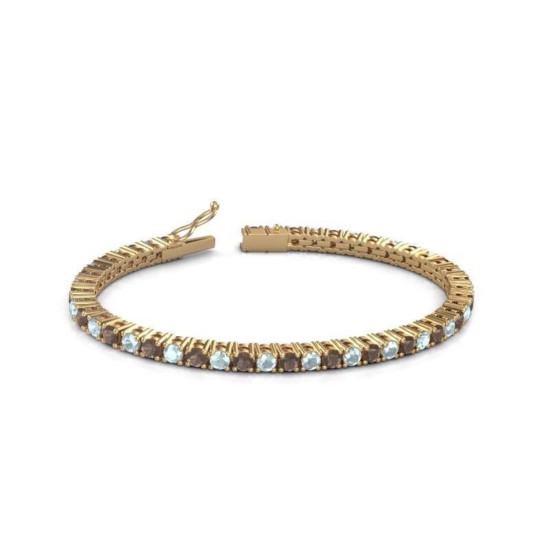 Tennisarmband Jenny 375 goud rookkwarts 3.5 mm