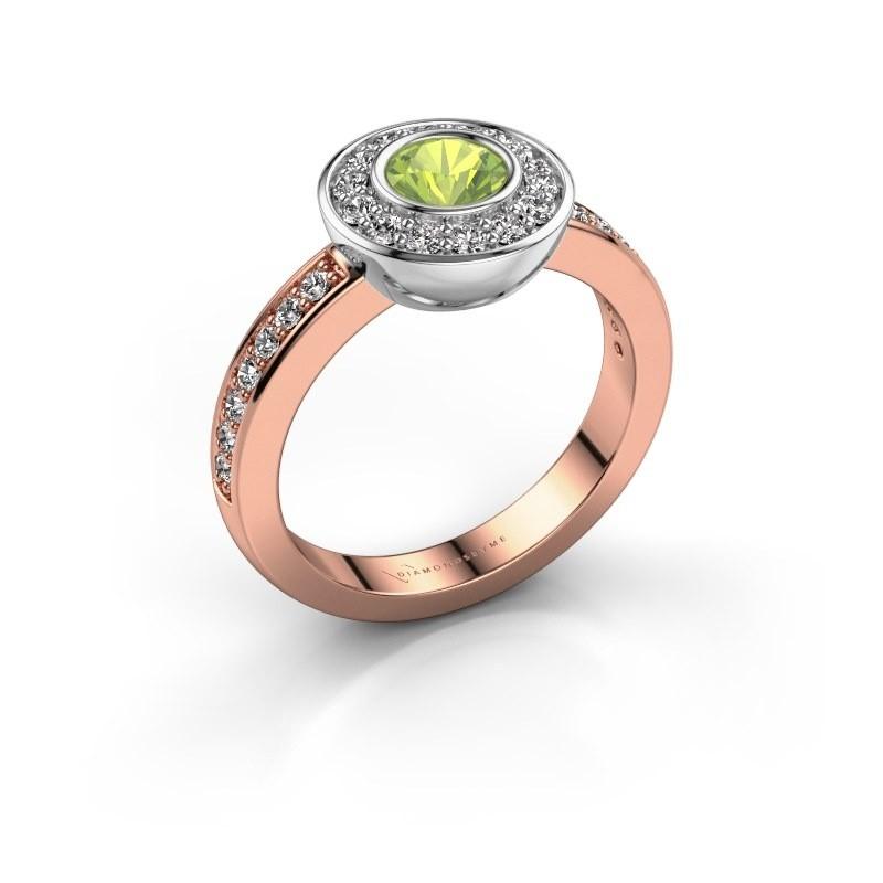 Ring Ivy 585 Roségold Peridot 5 mm