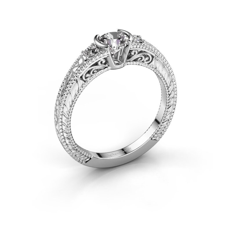 Verlovingsring Anamaria 950 platina diamant 0.59 crt