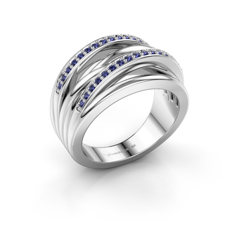 Ring Annabel 2 925 zilver saffier 1.2 mm