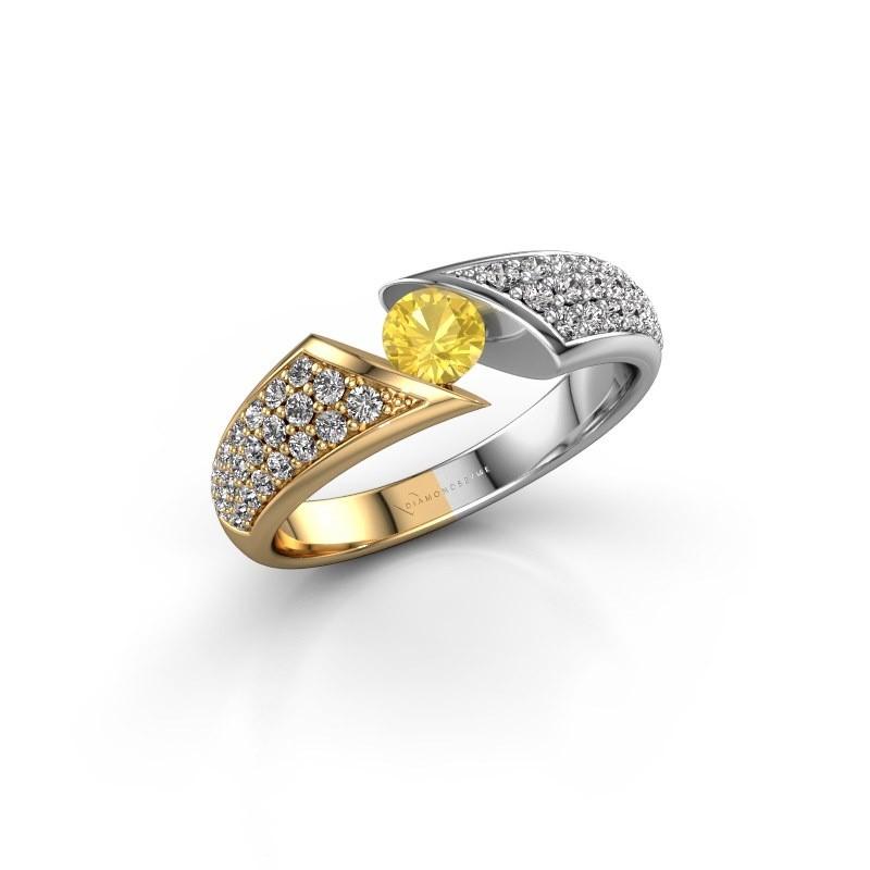 Engagement ring Hojalien 3 585 gold yellow sapphire 4.2 mm