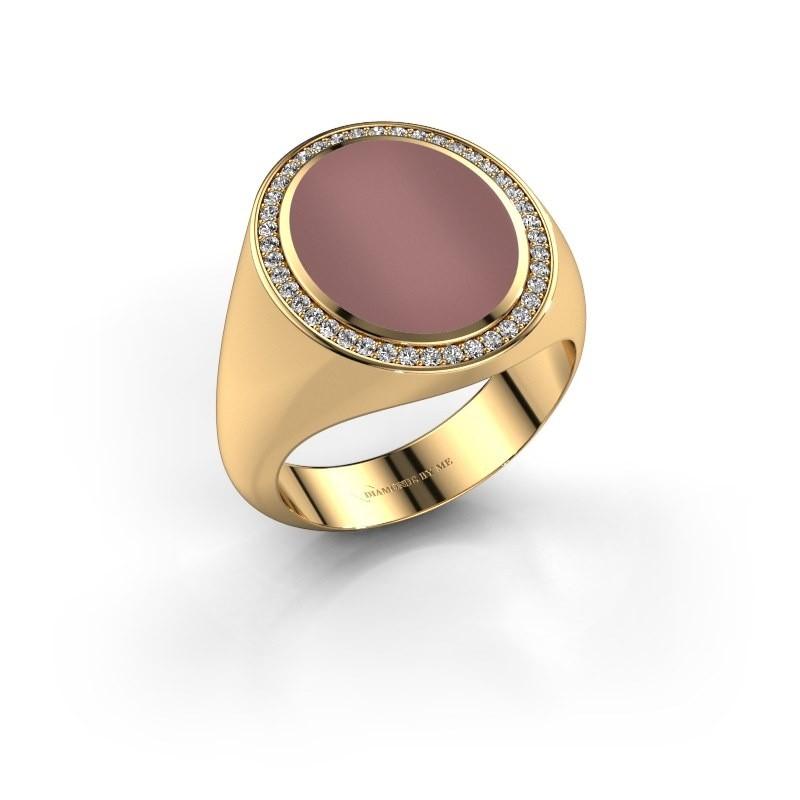 Signet ring Adam 4 375 gold carnelian 15x12 mm