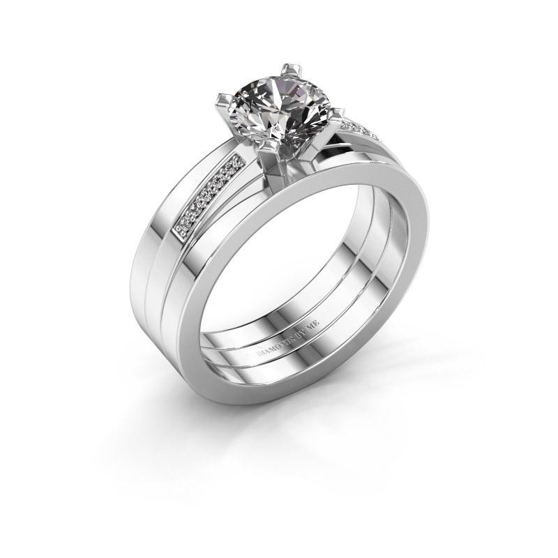 Verlobungsring Celeste 950 Platin Diamant 1.05 crt