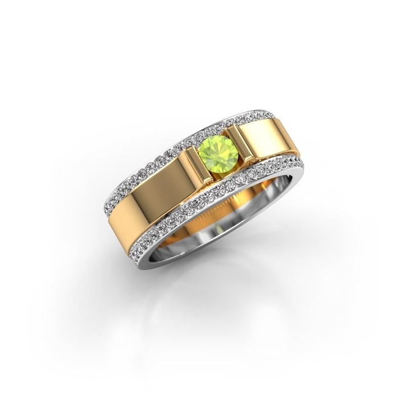 Men's ring Danillo 585 gold peridot 4.2 mm