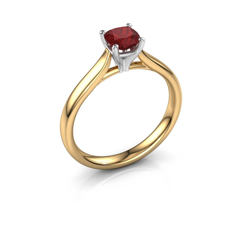 Verlobungsring Mignon cus 1 585 Gold Rubin 5 mm