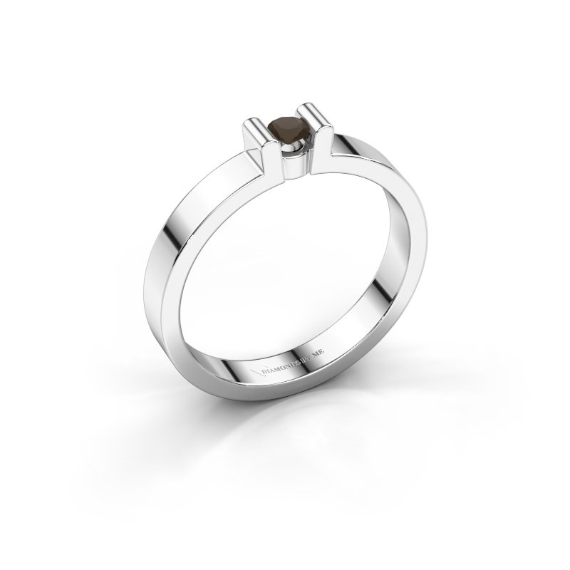Verlovingsring Sofie 1 925 zilver rookkwarts 3 mm