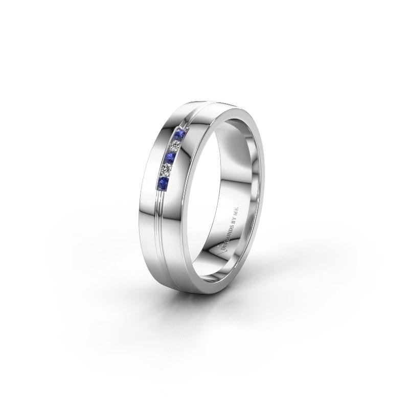 Ehering WH0132L25B 925 Silber Saphir ±5x2 mm