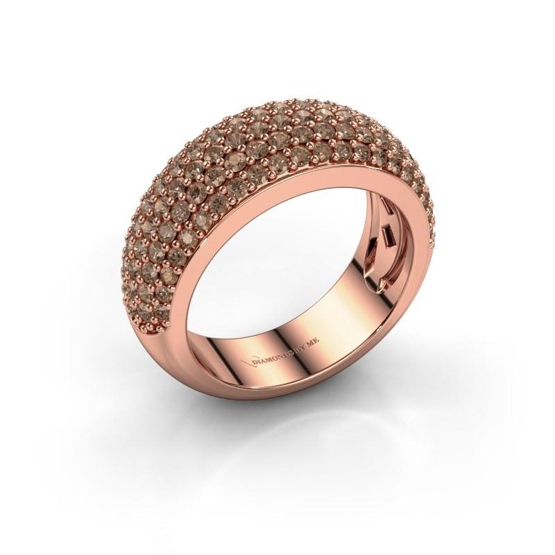 Ring Cristy 375 rosé goud bruine diamant 1.425 crt