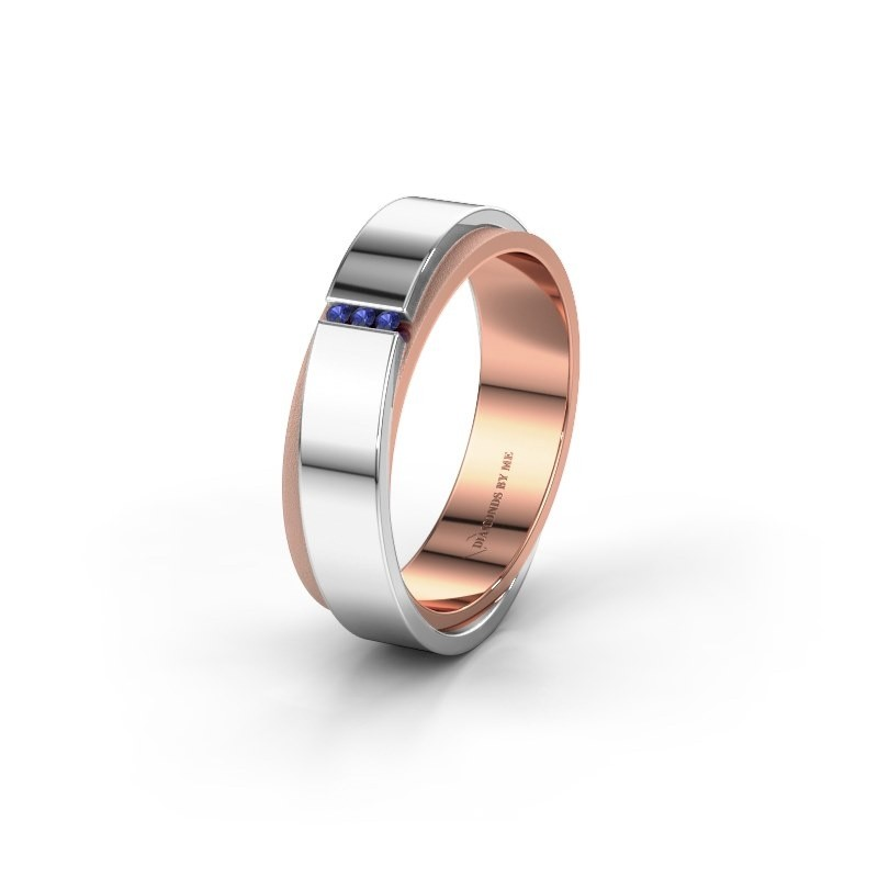 Wedding ring WH6012LX6A 585 rose gold sapphire ±6x1.7 mm