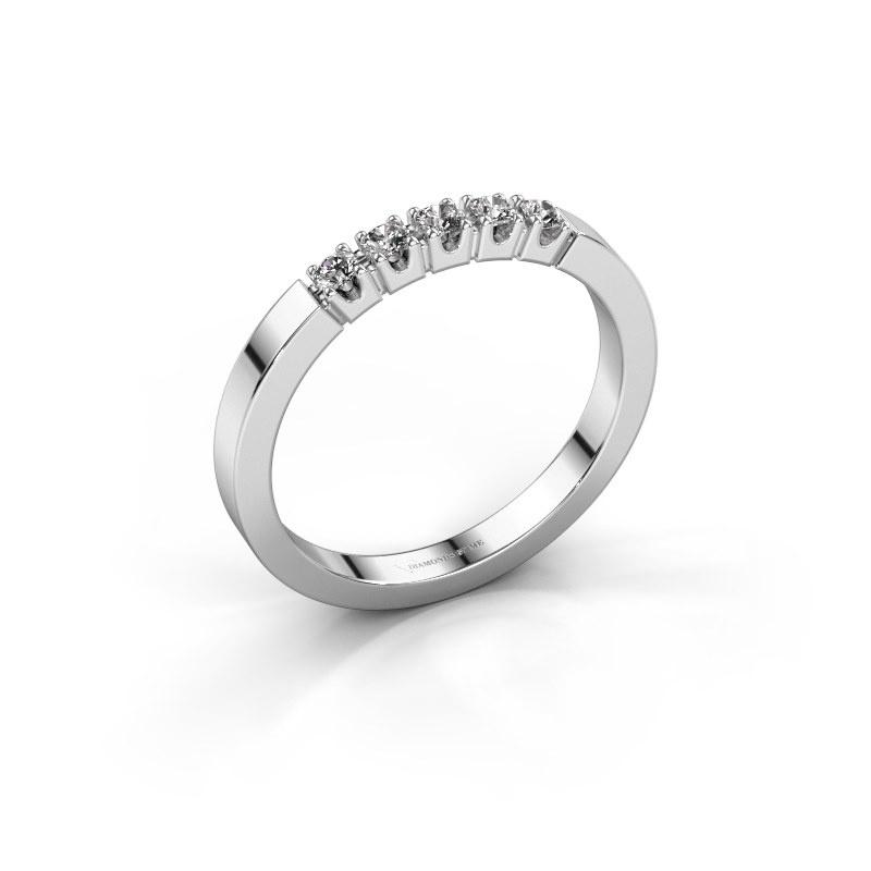 Engagement ring Dana 5 950 platinum diamond 0.15 crt