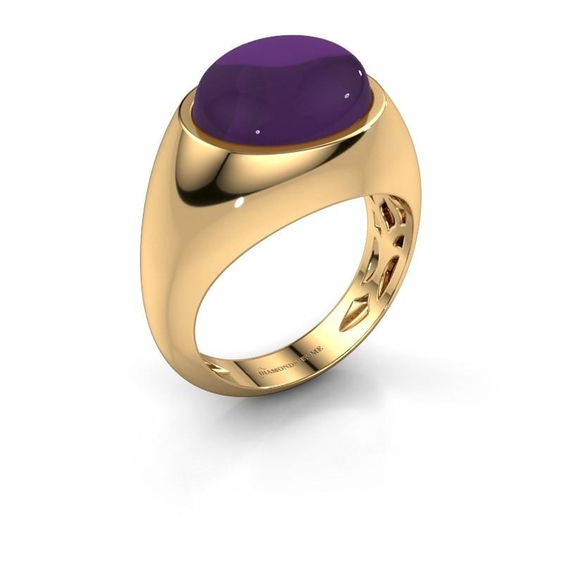 Ring Laurien 585 goud amethist 12x10 mm