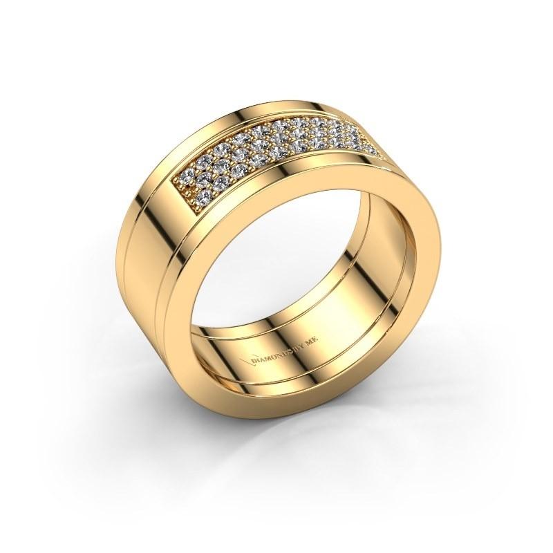 Ring Marita 3 585 gold lab grown diamond 0.29 crt