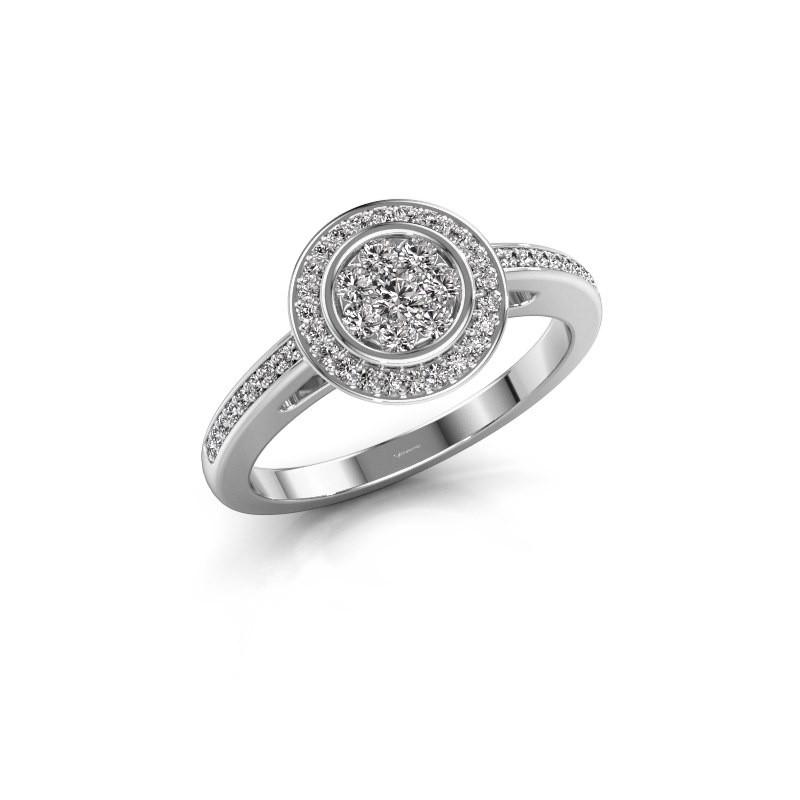 Bague de fiançailles Aida 585 or blanc diamant 0.36 crt