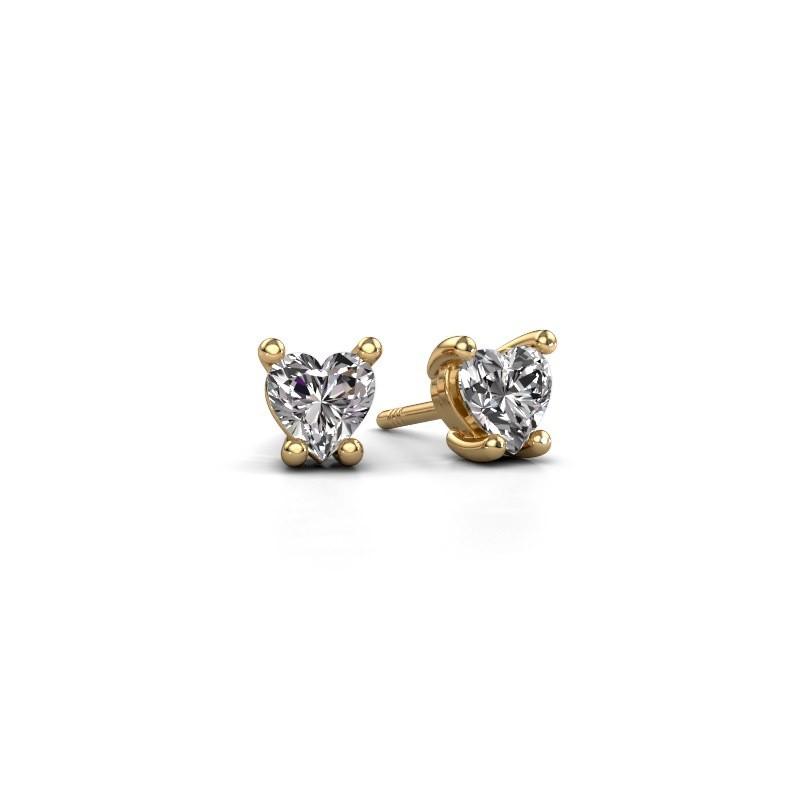 Ohrringe Sam Heart 375 Gold Lab-grown Diamant 0.50 crt