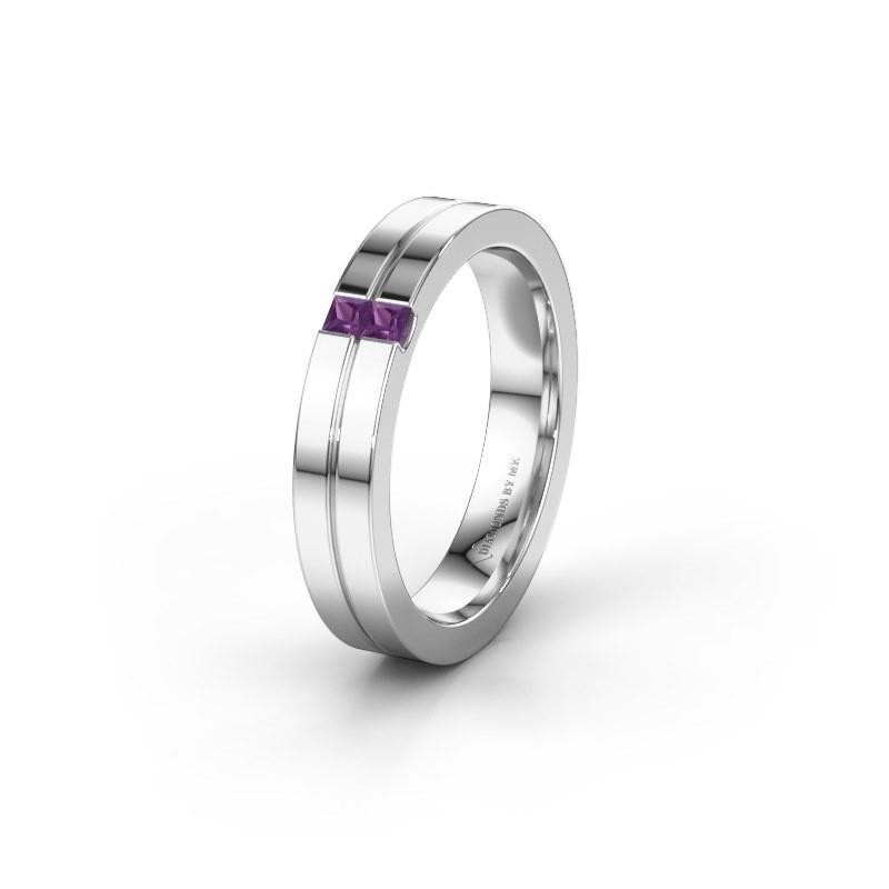 Wedding ring WH0225L14B 925 silver amethyst ±0.16x0.08 in